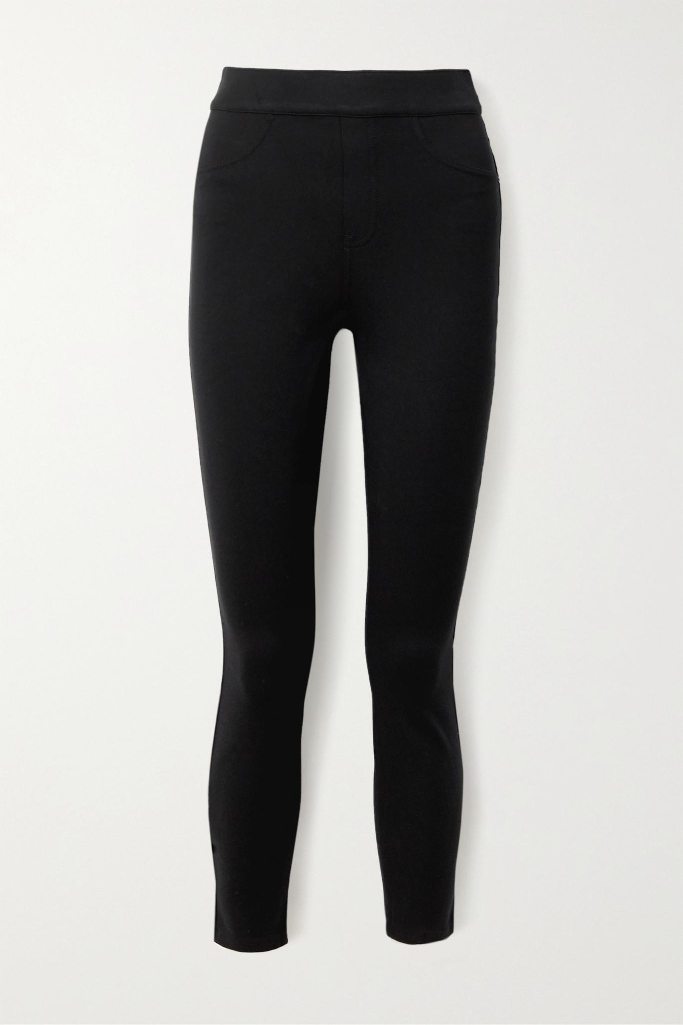 SPANX - 弹力双罗纹紧身裤 - 黑色 - medium