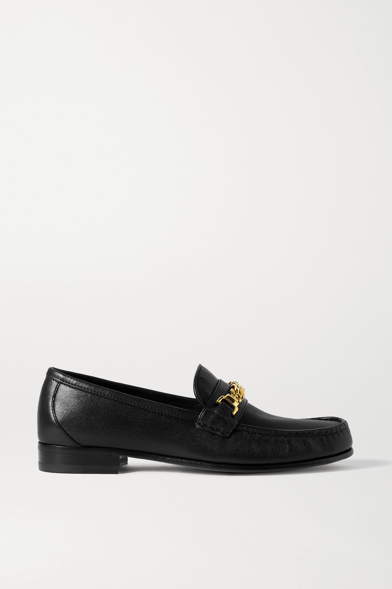 GUCCI - + Net Sustain Sylvie Chain-embellished Leather Loafers - Black - IT40