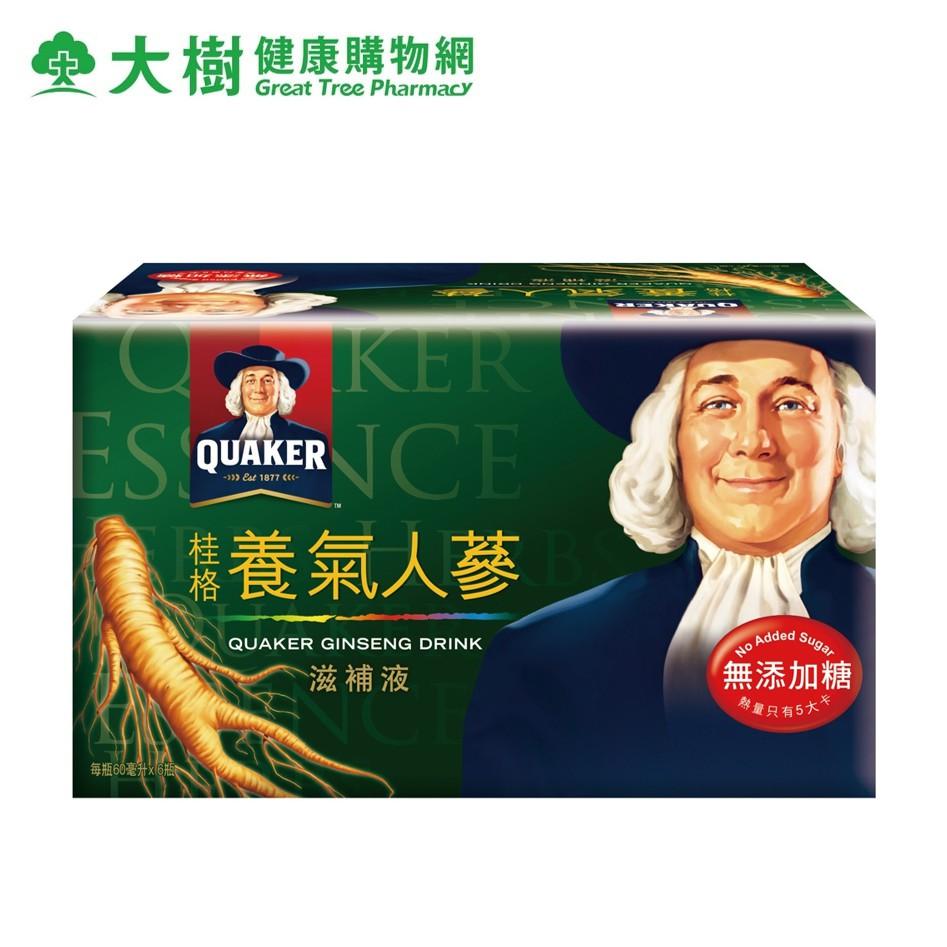 桂格 無糖養氣人蔘 6瓶/盒 大樹