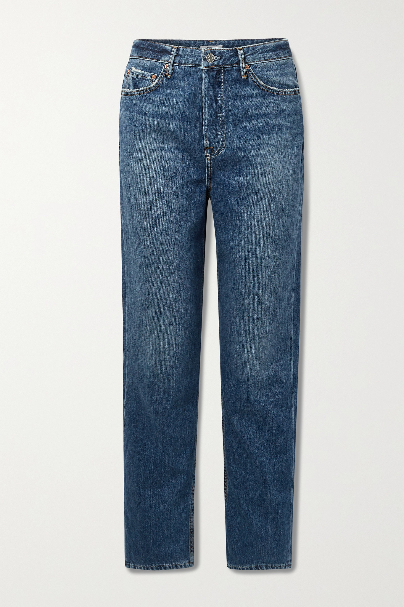 GRLFRND - Devon 高腰直筒牛仔裤 - 蓝色 - 24