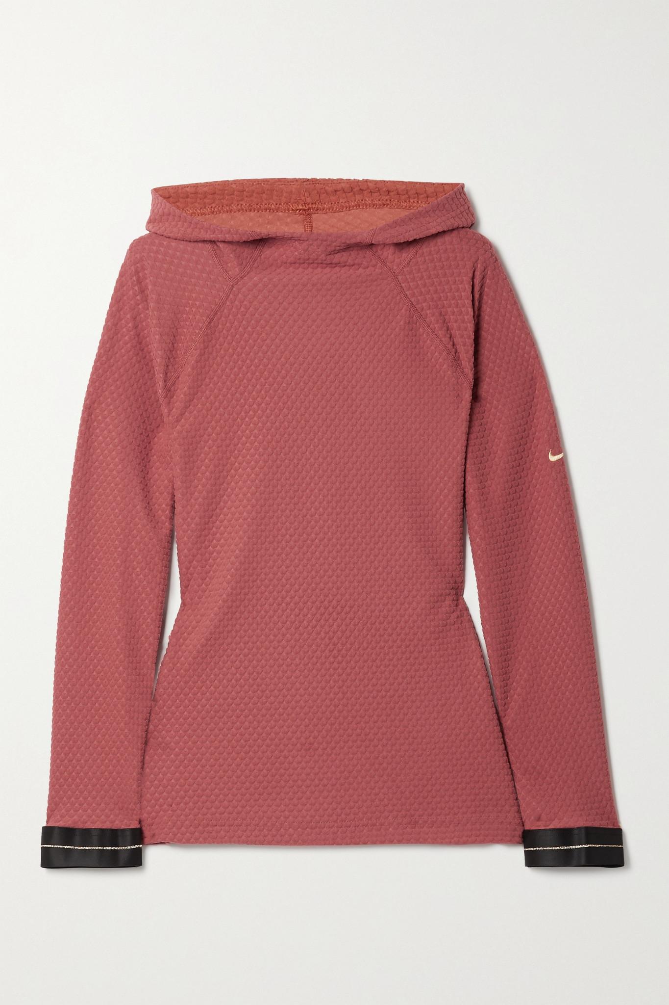 NIKE - Icon Clash Dri-fit 吸湿排汗帽衫 - 红色 - x small
