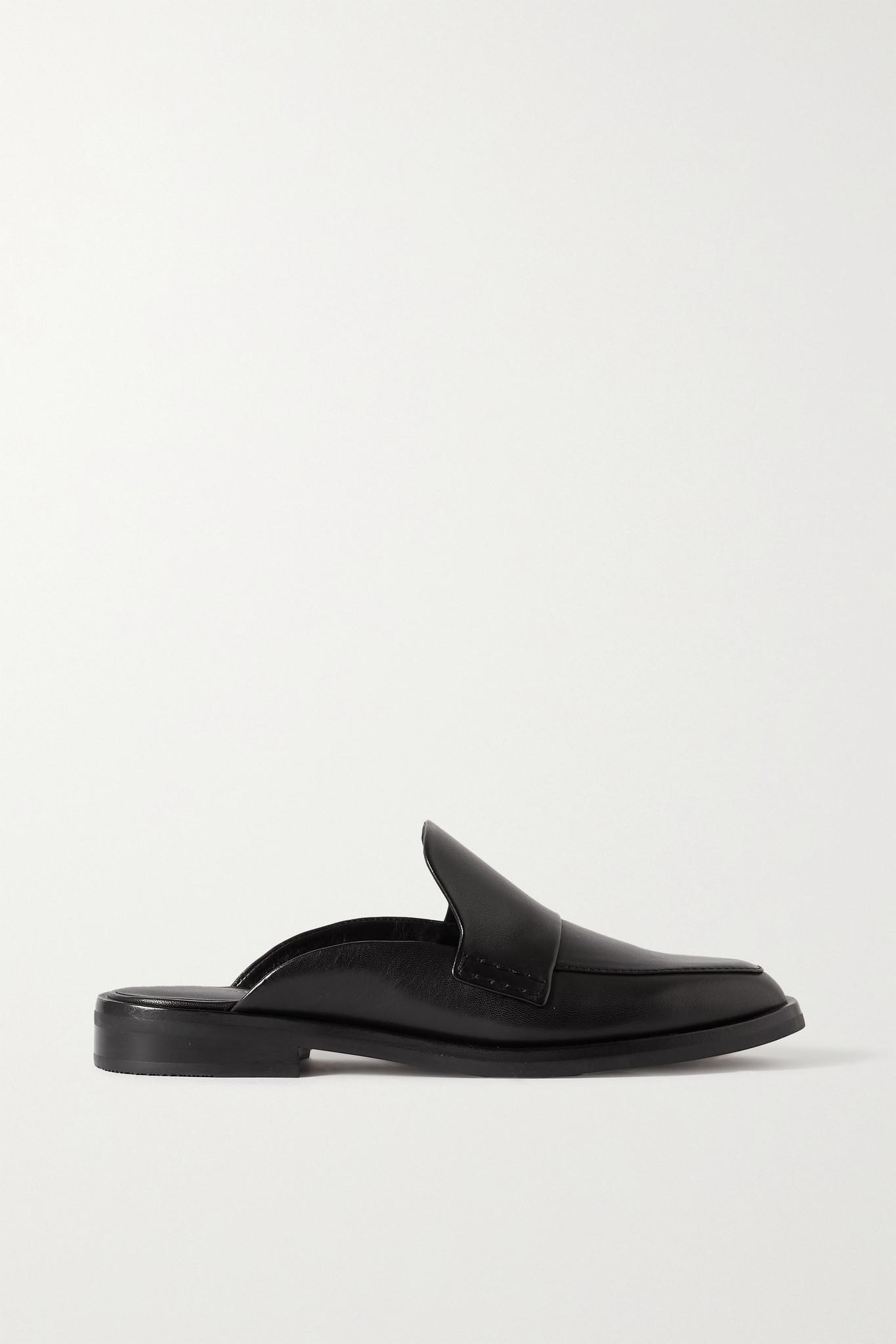 3.1 PHILLIP LIM - Alexa 皮革拖鞋 - 黑色 - IT39