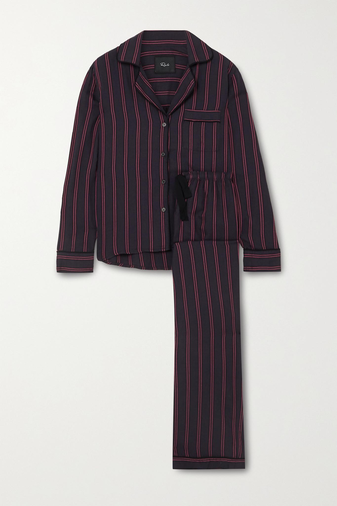 RAILS - Clara 条纹巴里纱睡衣套装 - 蓝色 - medium