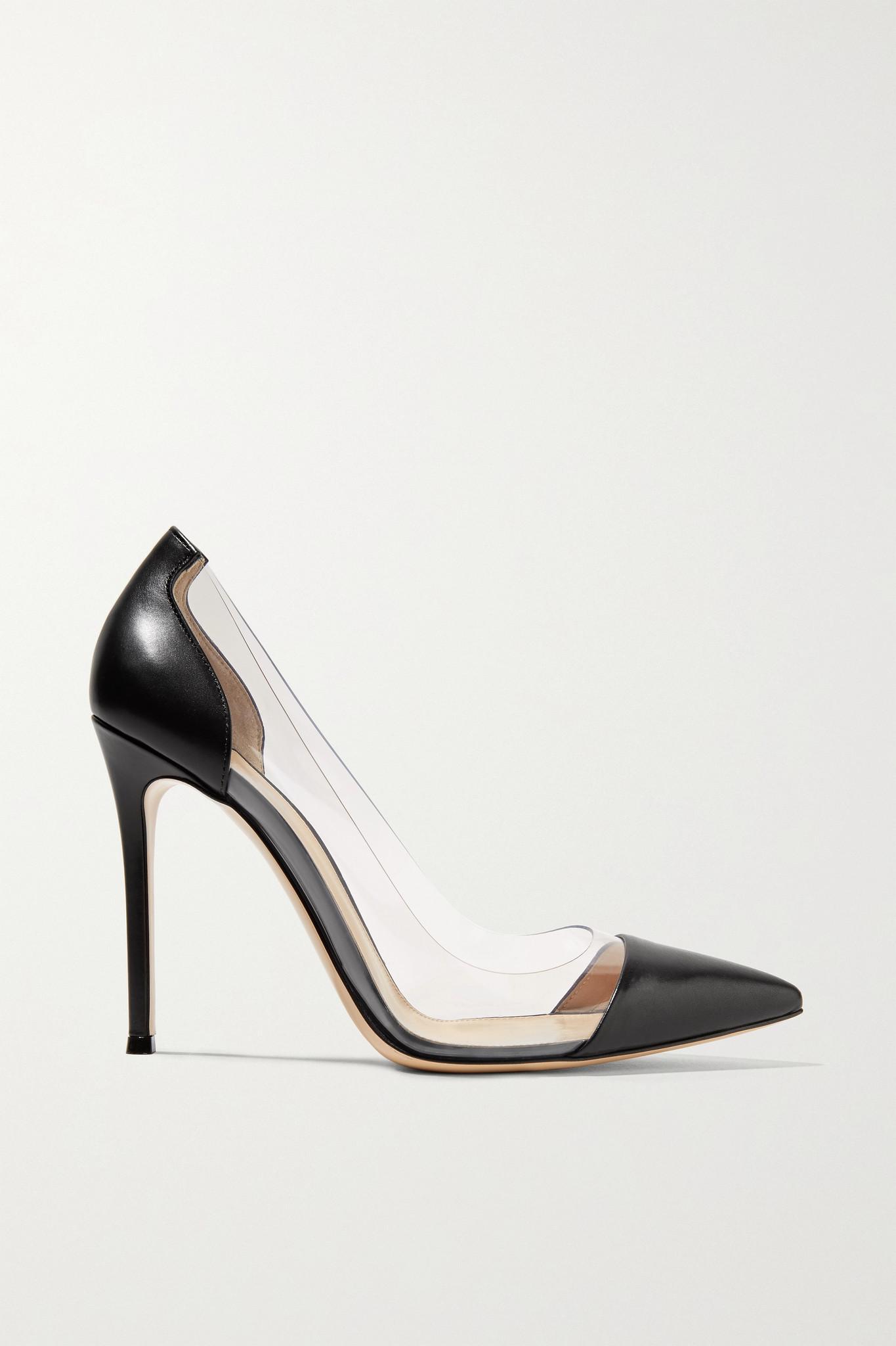 GIANVITO ROSSI - Plexi 100 皮革 Pvc 高跟鞋 - 黑色 - IT34