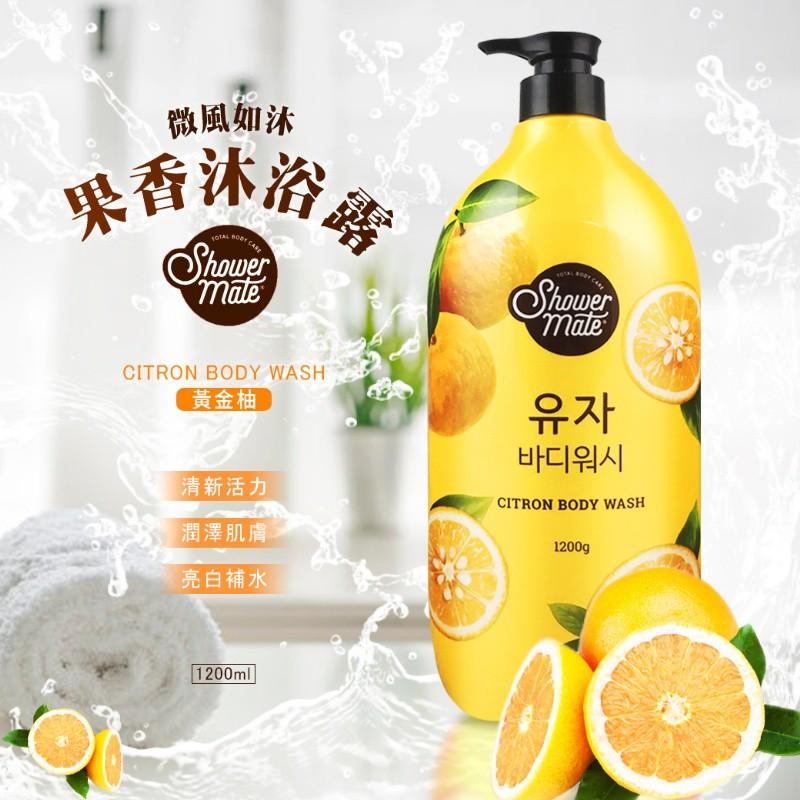 01現貨-Shower Mate微風如沐果香沐浴露 1200ml-黃金柚(黃)(預計三月底到貨)