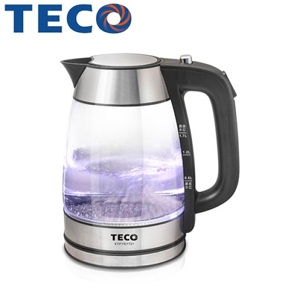 TECO 東元 XYFYK1701 玻璃快煮壺