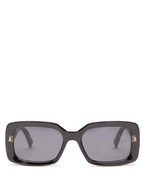 Givenchy - Rectangular Acetate Sunglasses - Womens - Black