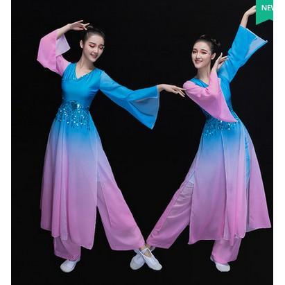 弱水三千古典舞演出服驚鴻舞水袖舞涼涼舞采薇舞蹈服裝成人女