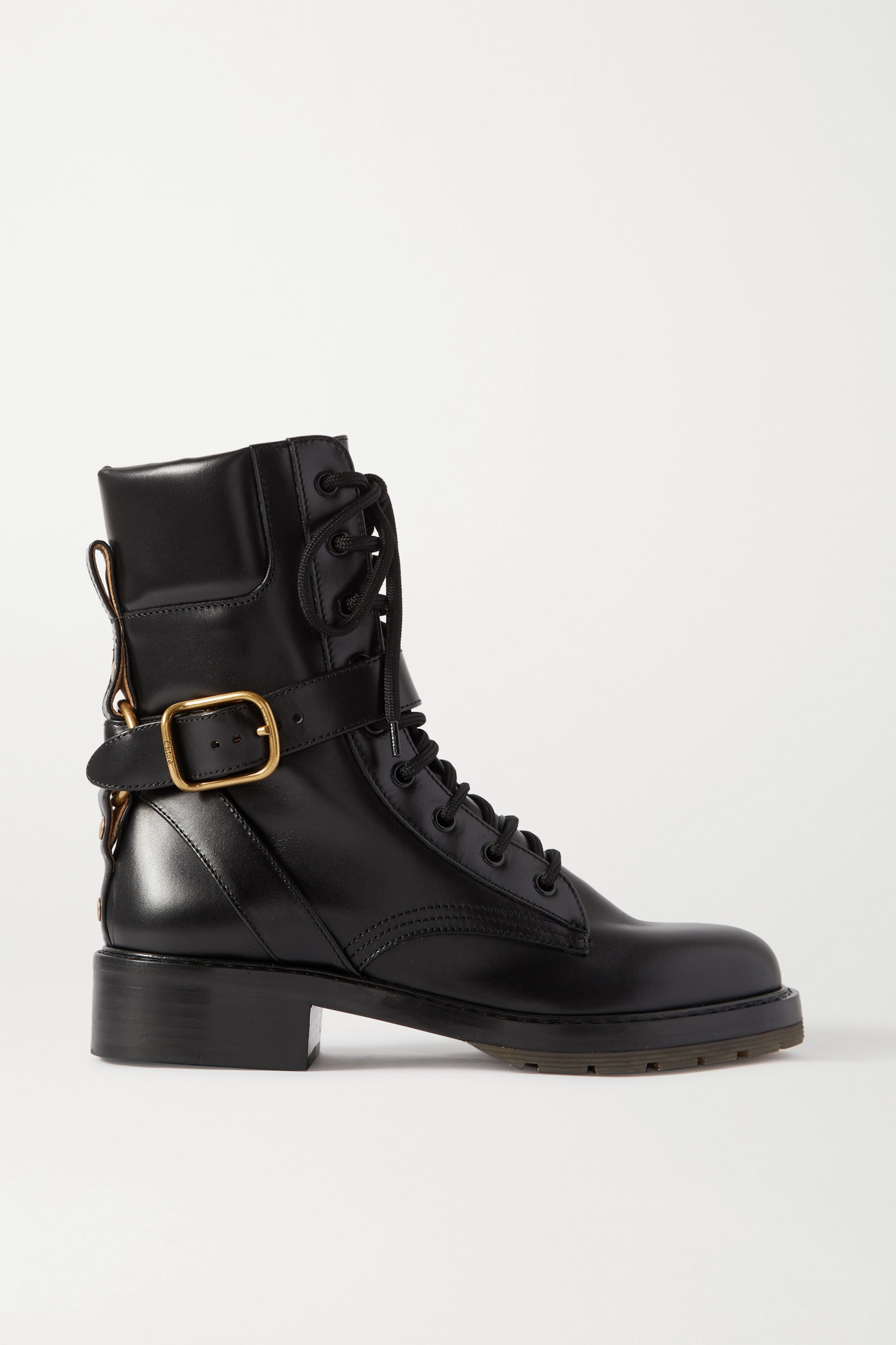 CHLOÉ - Diane 皮革踝靴 - 黑色 - IT36