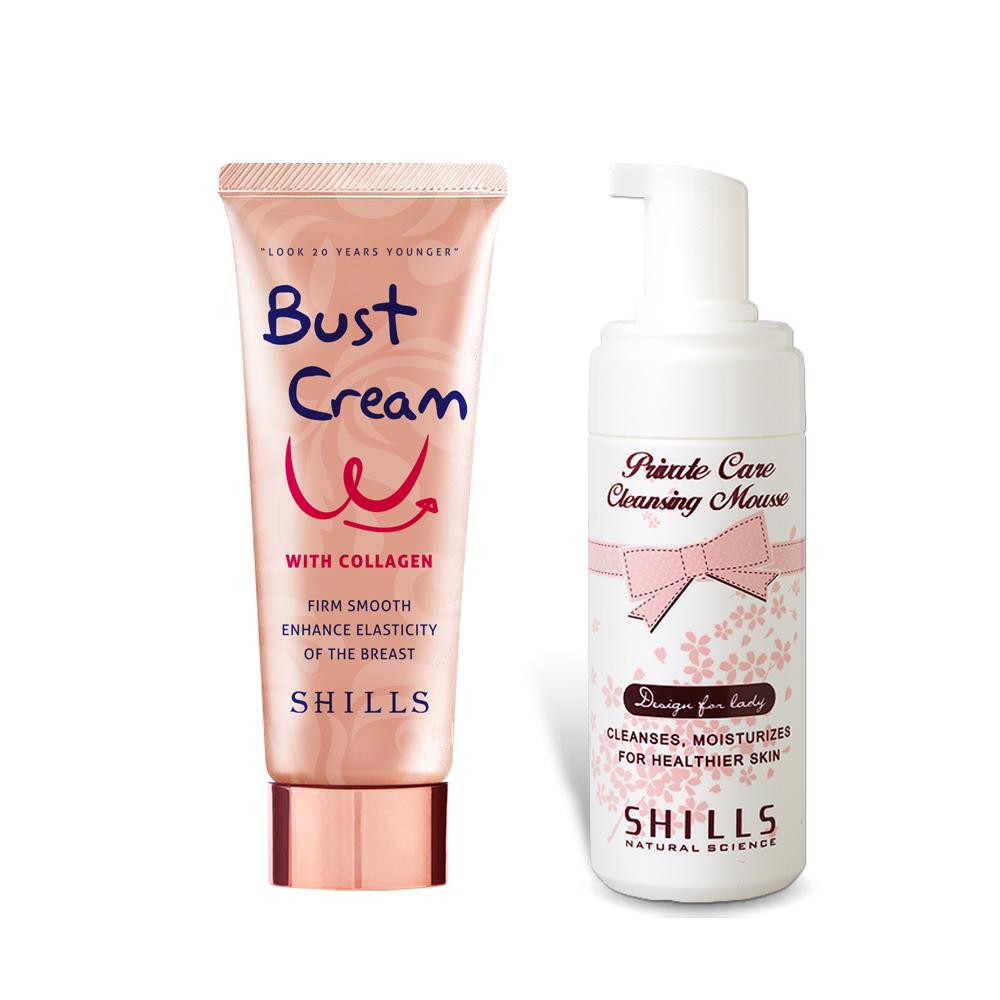 【美體保養】SHILLS 私密美胸保養2件組 (美胸霜*1+私密慕絲*1)
