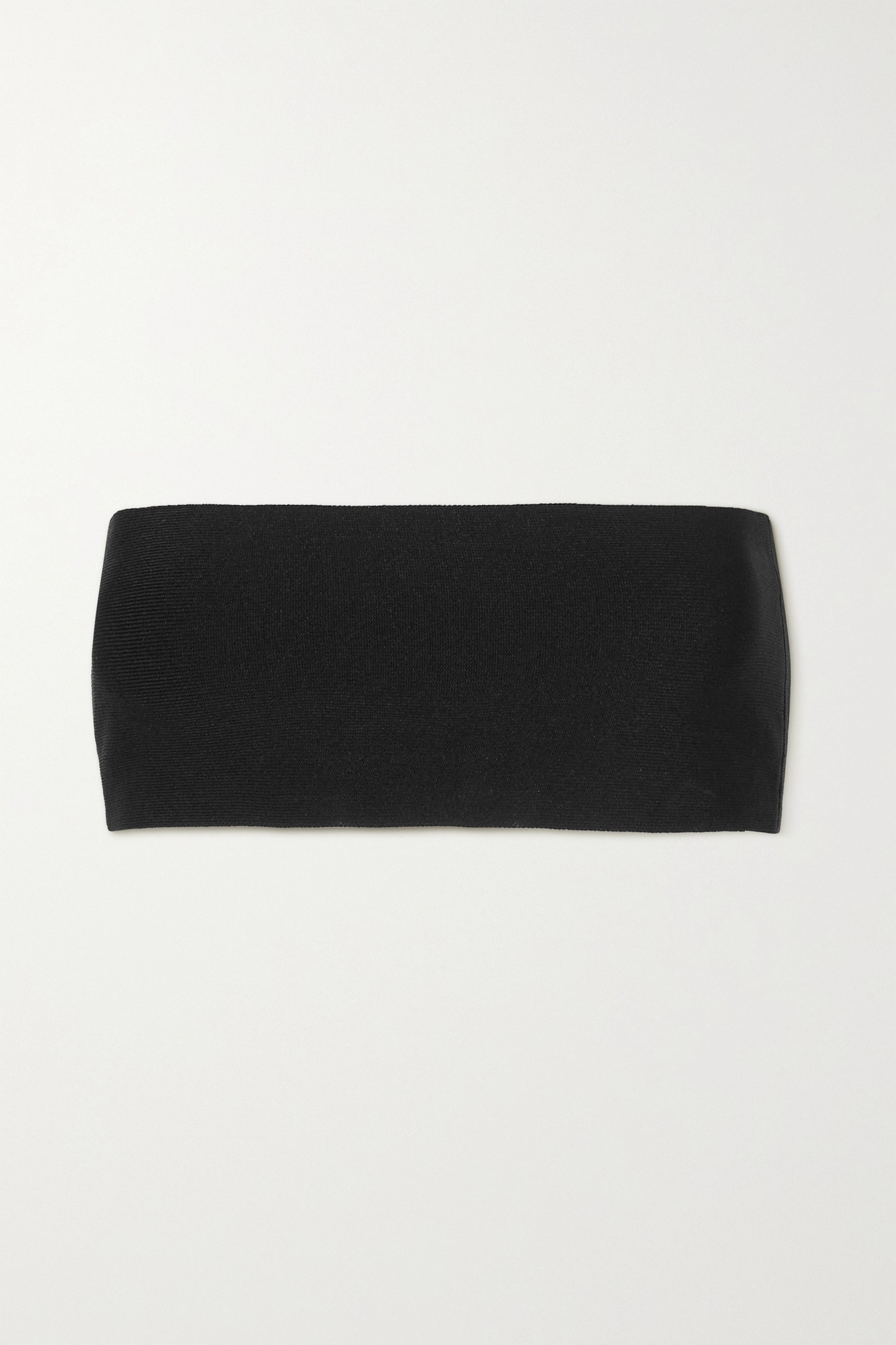 STELLA MCCARTNEY - Strapless Knitted Top - Black - x small