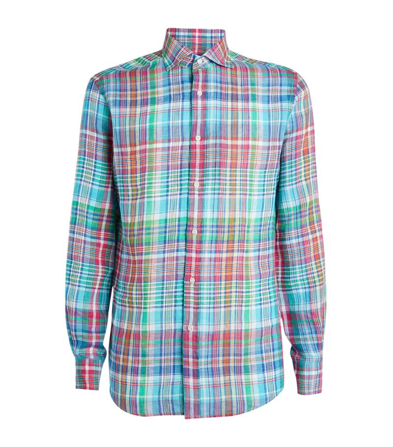 Ralph Lauren Purple Label Linen Check Shirt