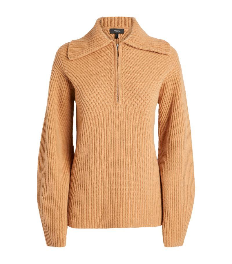 Theory Ribbed Half-Zip Sweater