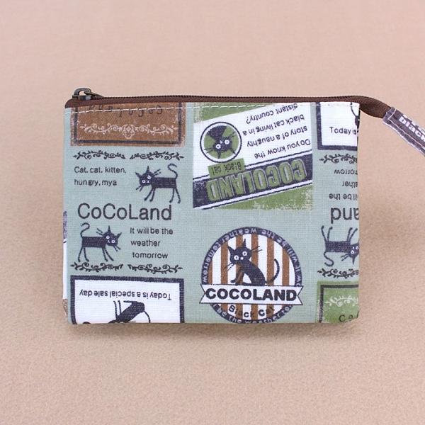 雨朵防水包 M055-242 單拉鍊內雙層零錢包