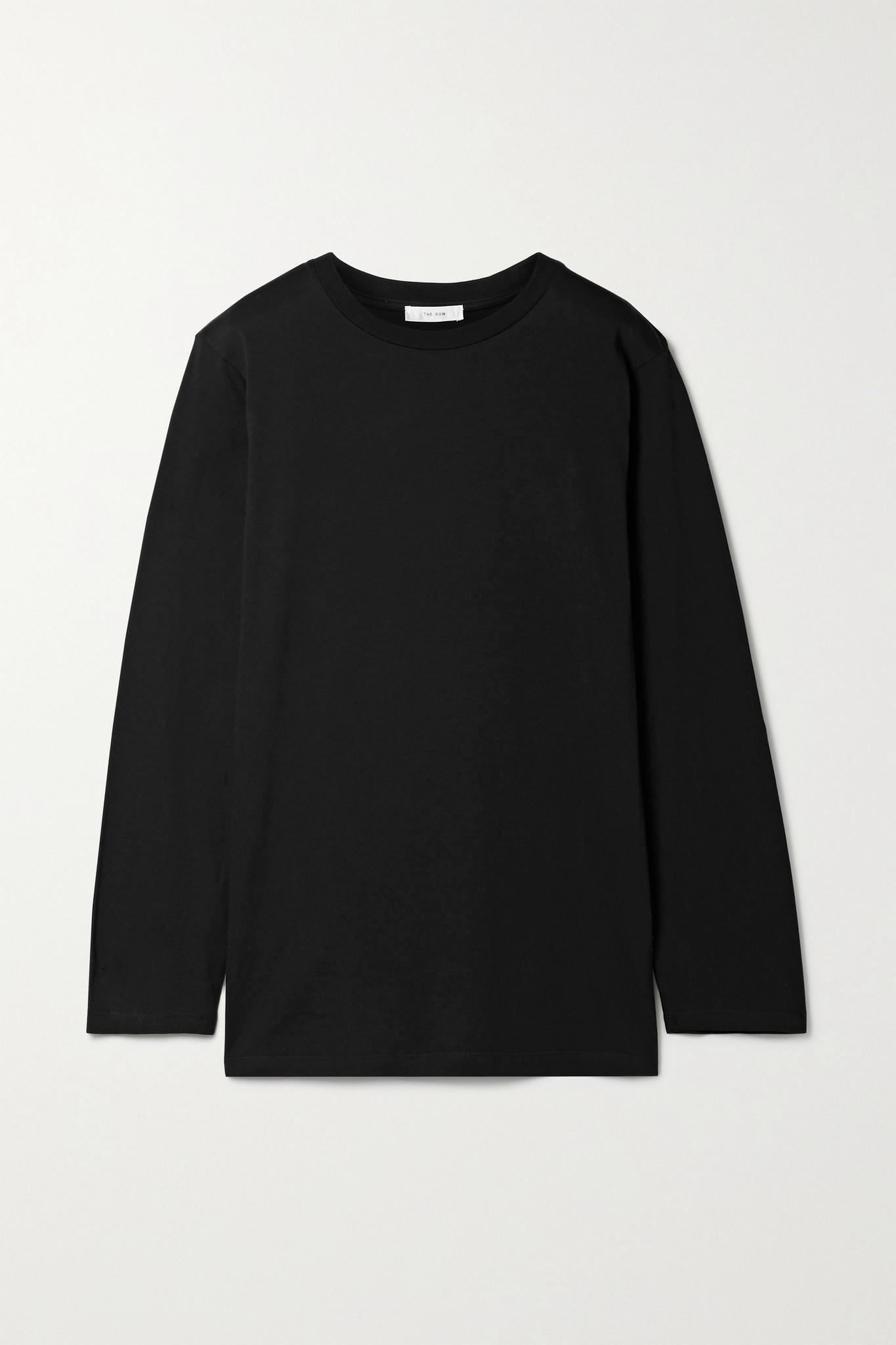 THE ROW - Autie Cotton-jersey Top - Black - medium