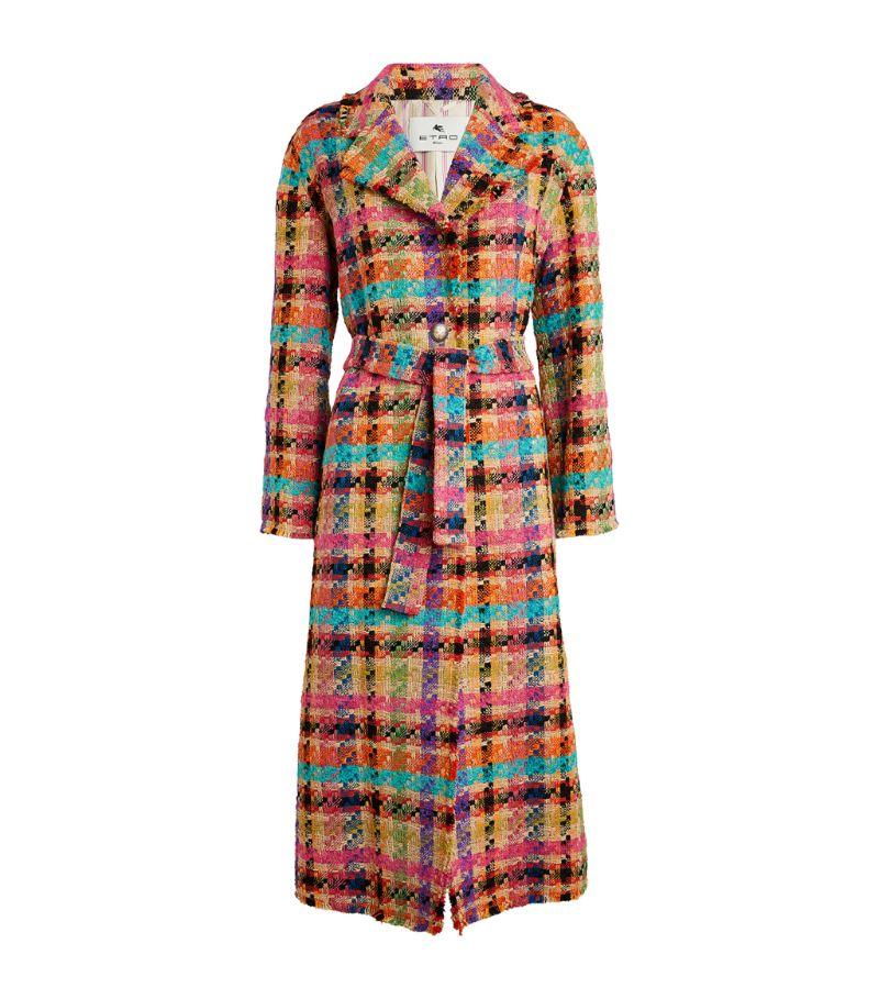 Etro Check Pattern Coat