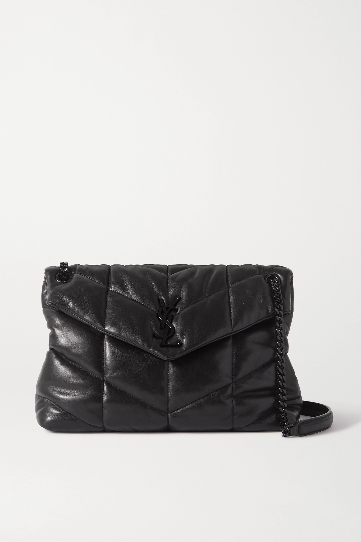 SAINT LAURENT - Loulou Puffer Quilted Leather Shoulder Bag - Black - one size