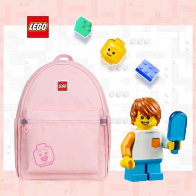 LEGO丹麥樂高笑臉背包-積木表情符號粉紅色 20130-1935