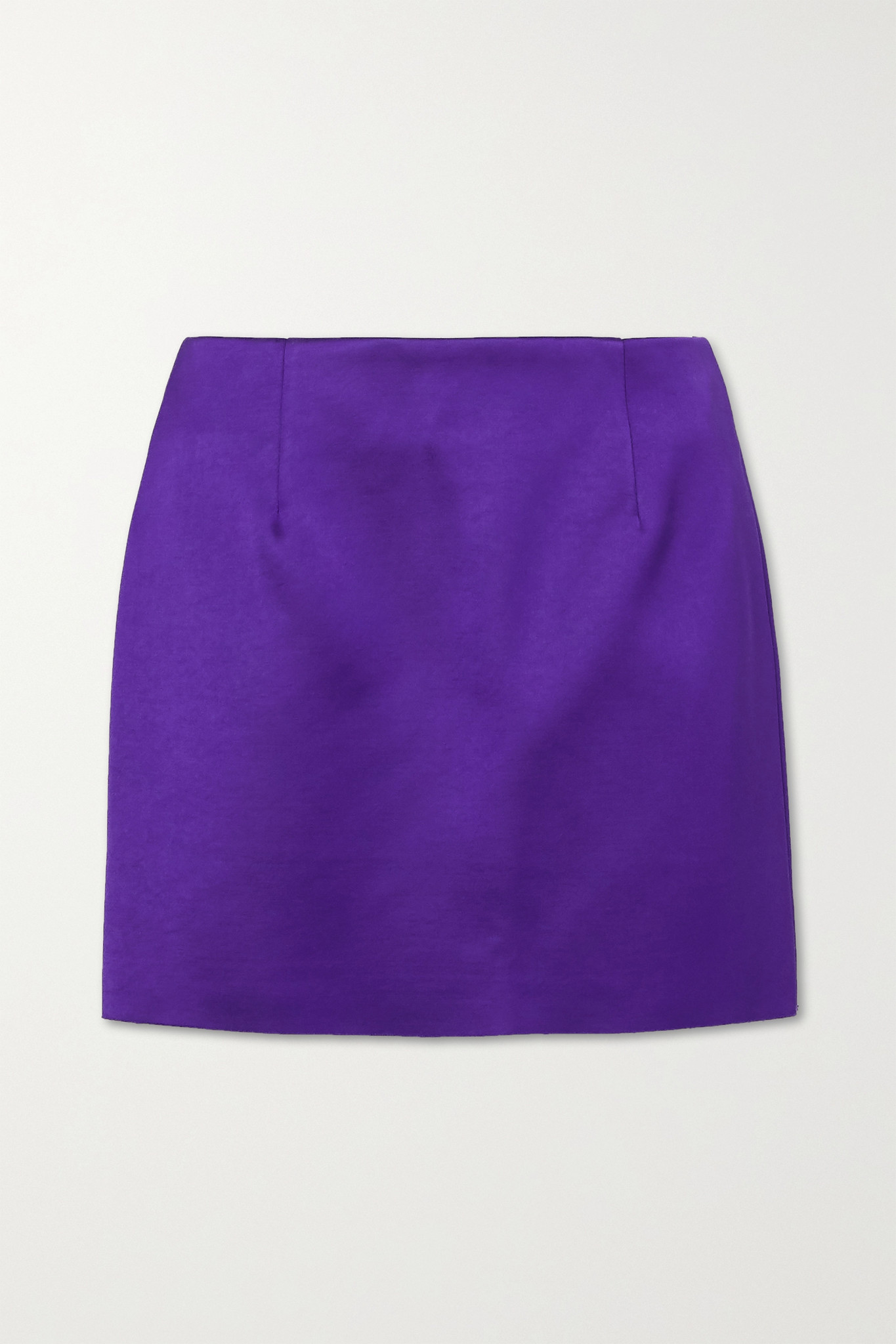 GEORGIA ALICE - Power Satin Mini Skirt - Purple - UK12