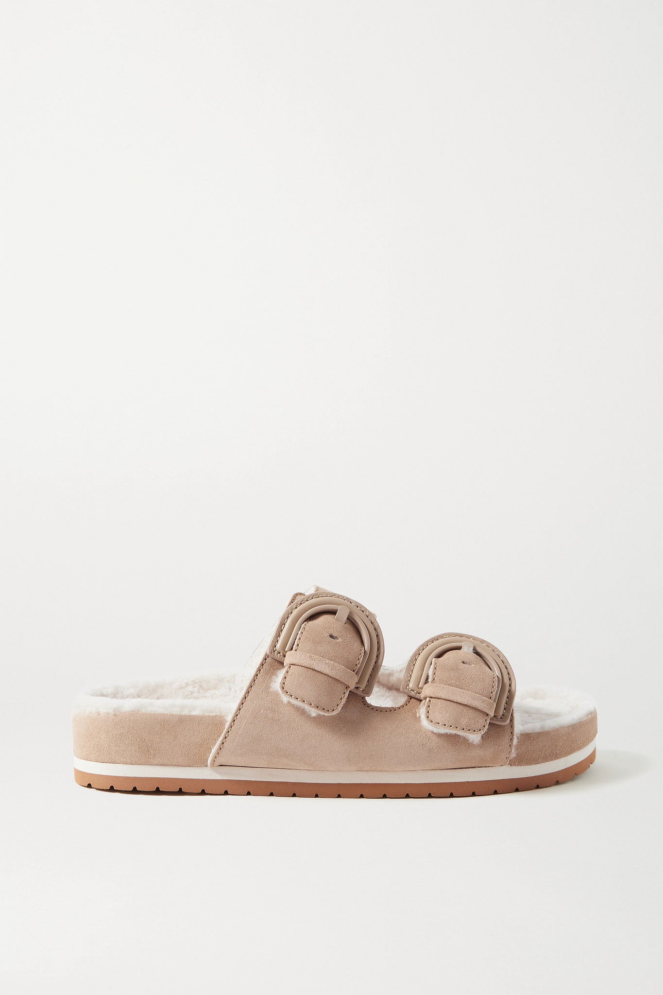 VINCE - Glyn 羊毛皮衬里绒面革拖鞋 - 中性色 - US9.5