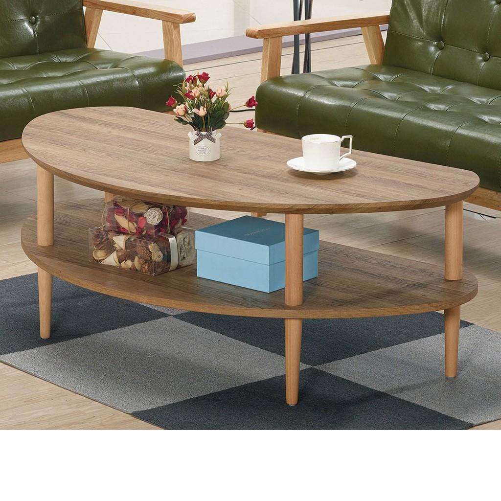 【119.5cm大茶几-A332-3】實木原木玻璃 大理石長方桌 大小邊几 圓桌 【金滿屋】