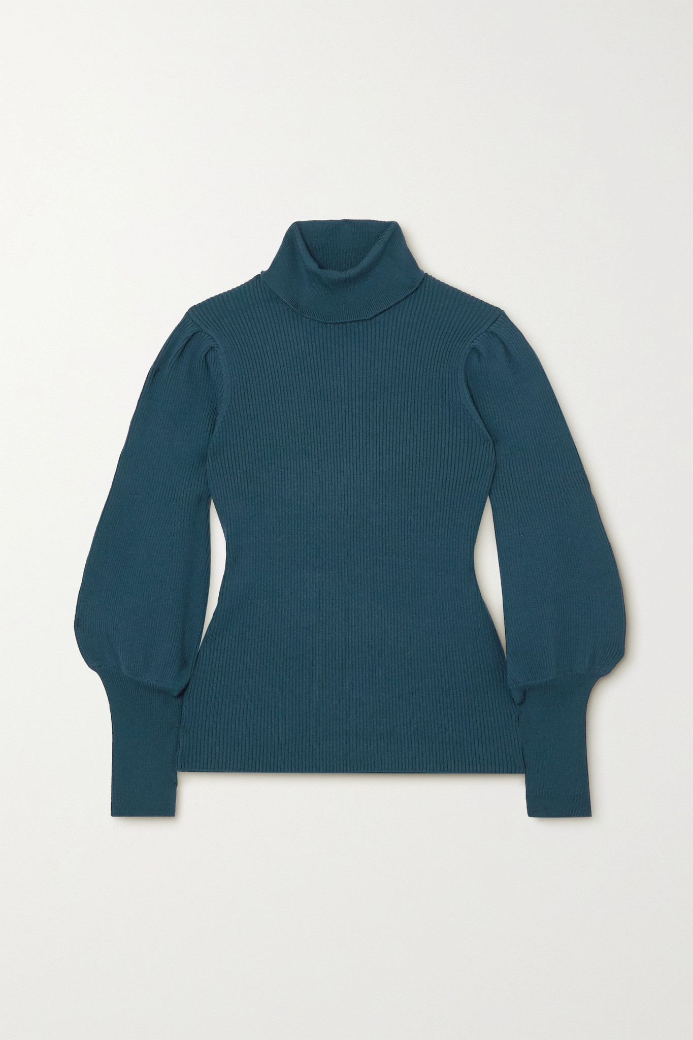 CEFINN - Eva Ribbed Wool-blend Turtleneck Sweater - Blue - large