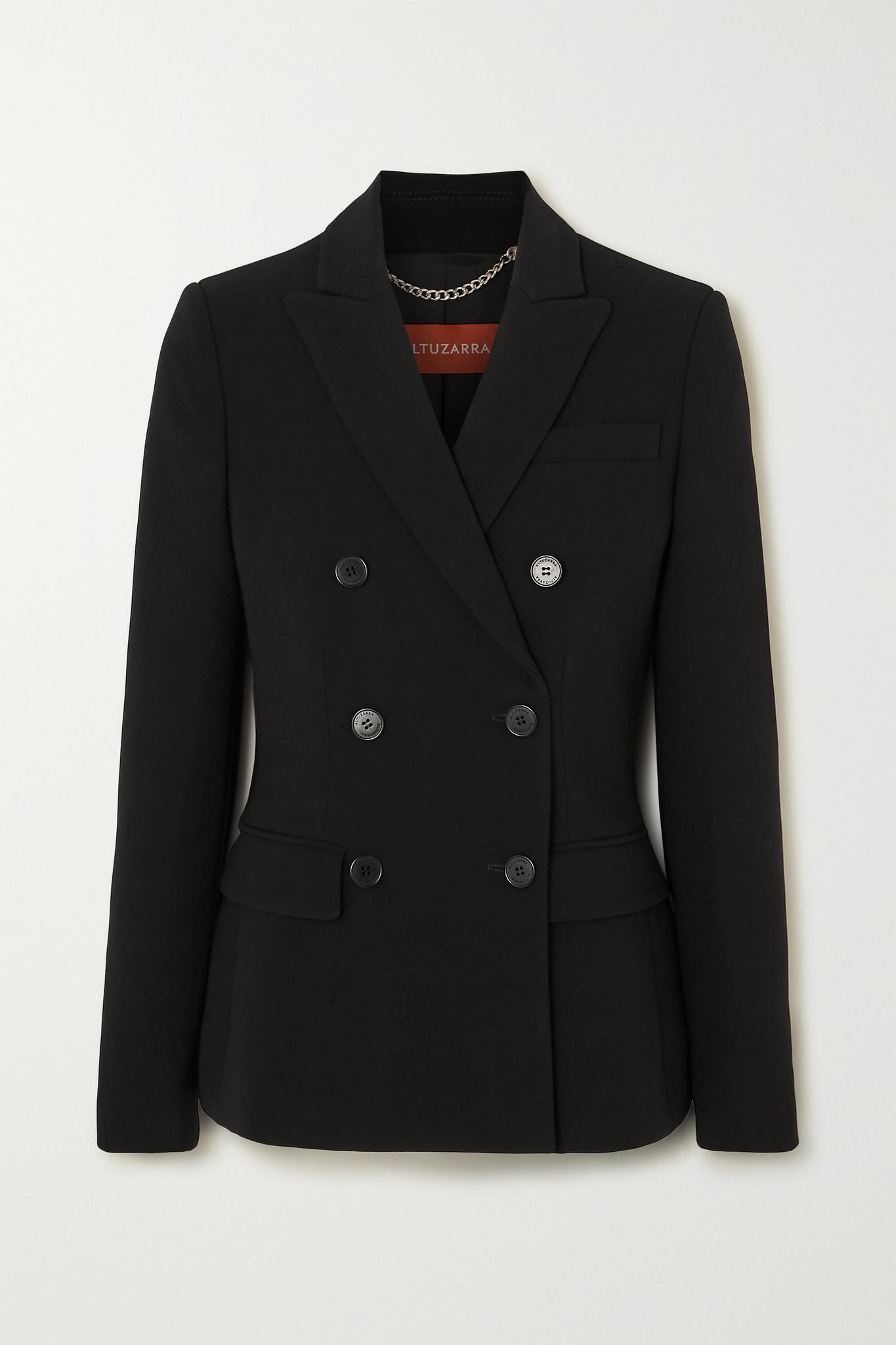 ALTUZARRA - Indiana 双排扣卡迪面料西装外套 - 黑色 - FR34