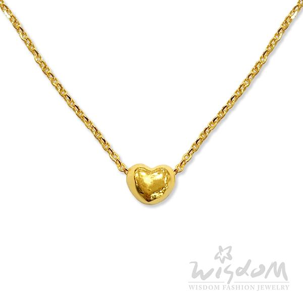 威世登 黃金心型小套鍊 結婚首飾推薦 禮物推薦 金重約0.77~0.79錢 GB01574-AAXX-FIX