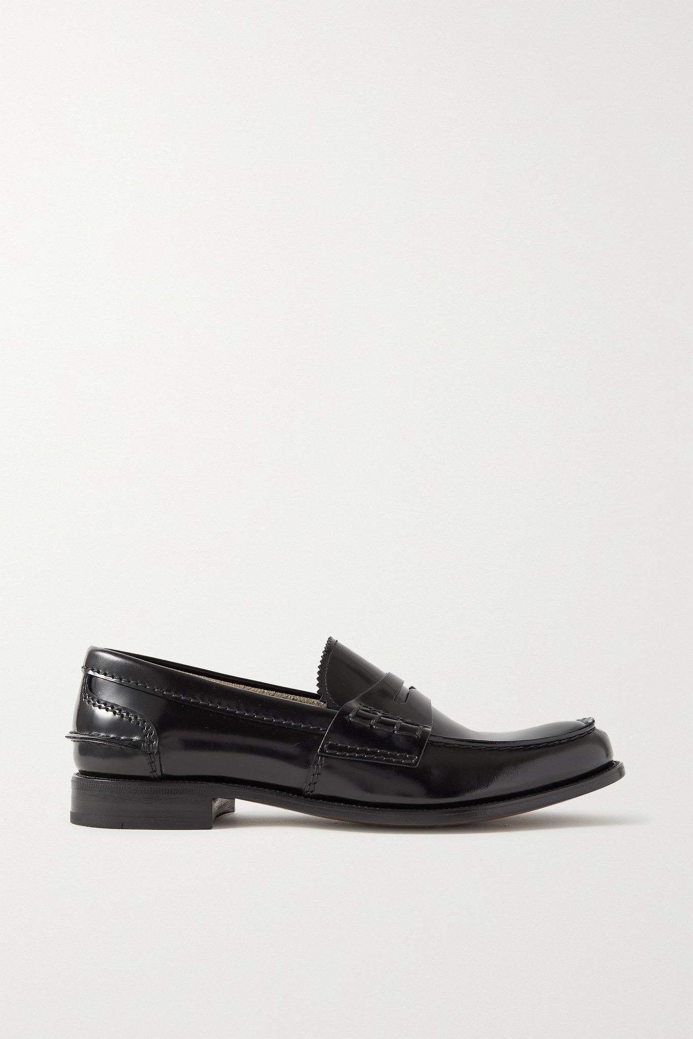 CHURCH'S - Pembrey Glossed-leather Loafers - Black - IT37