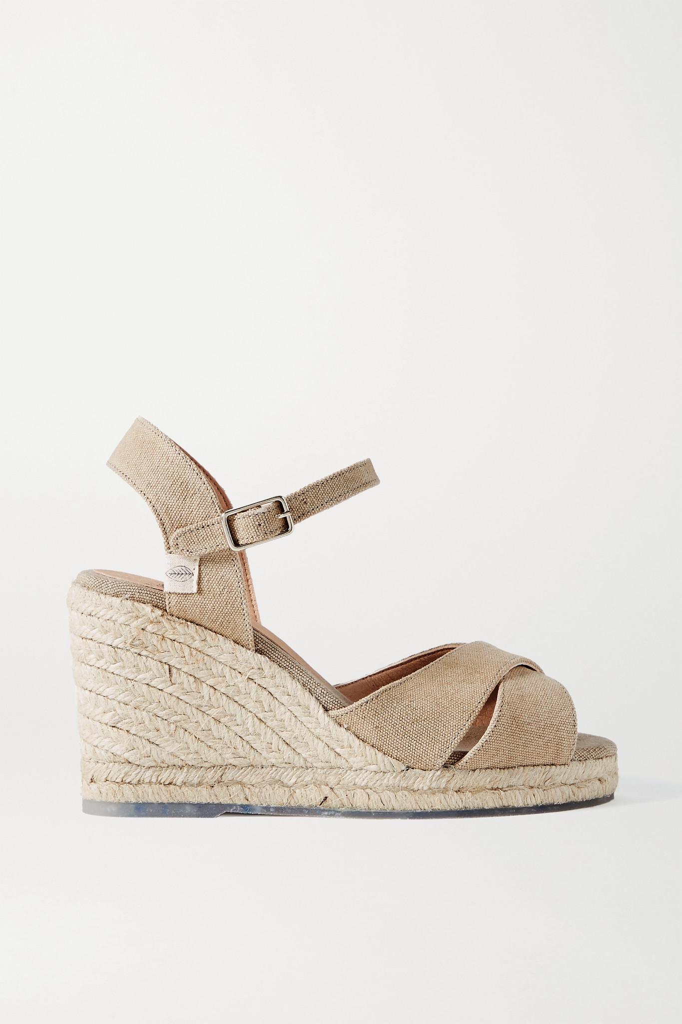 CASTAÑER - 【net Sustain】blaudell 80 帆布坡跟凉鞋 - 中性色 - IT36