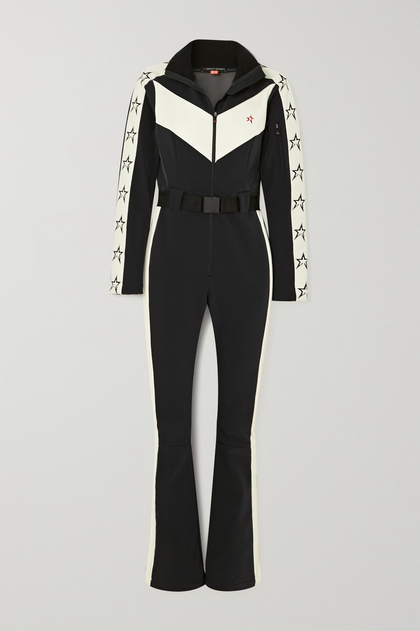 PERFECT MOMENT - Ryder 配腰带双色滑雪服 - 黑色 - large