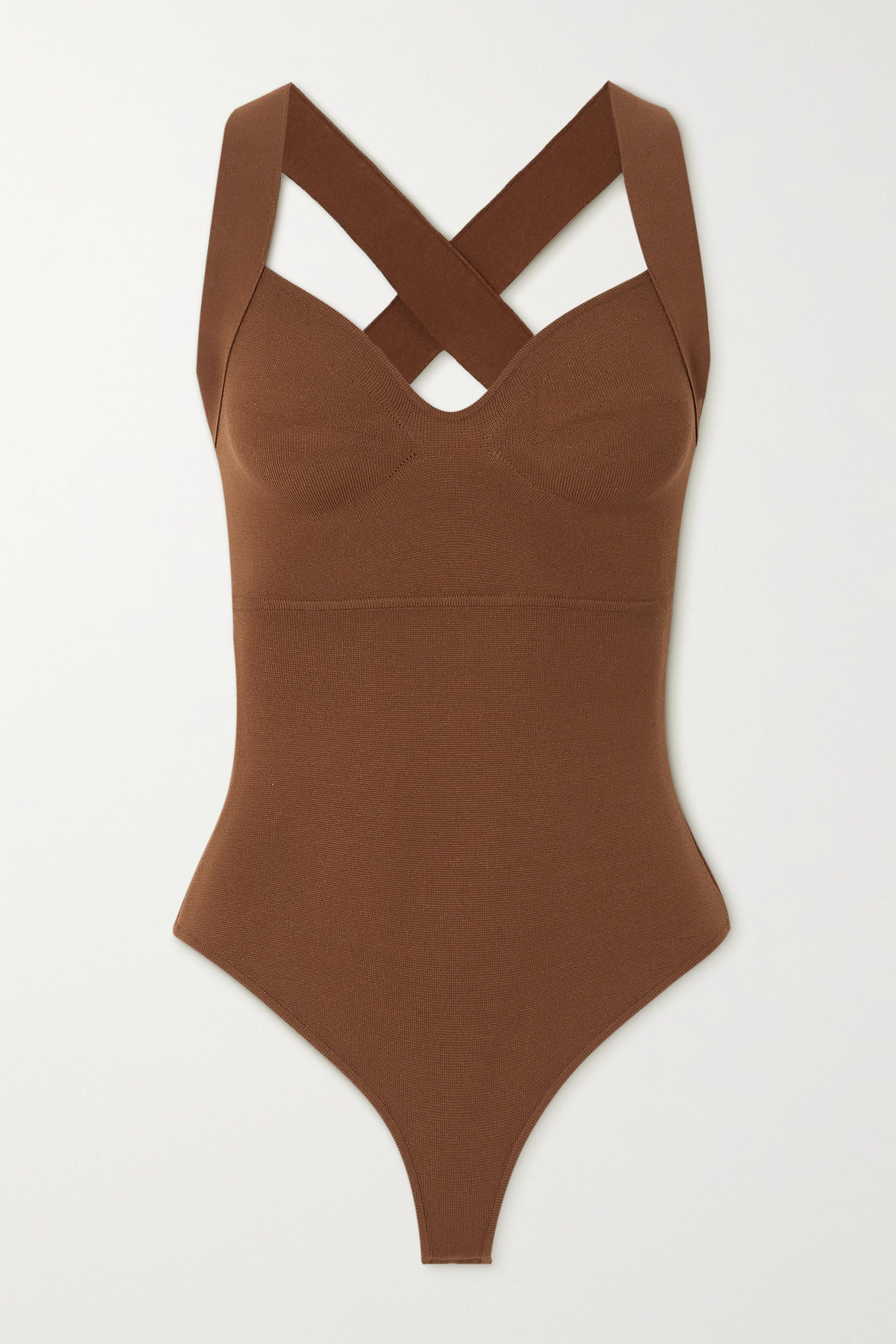 ZEYNEP ARCAY - Stretch-knit Bodysuit - Brown - US2