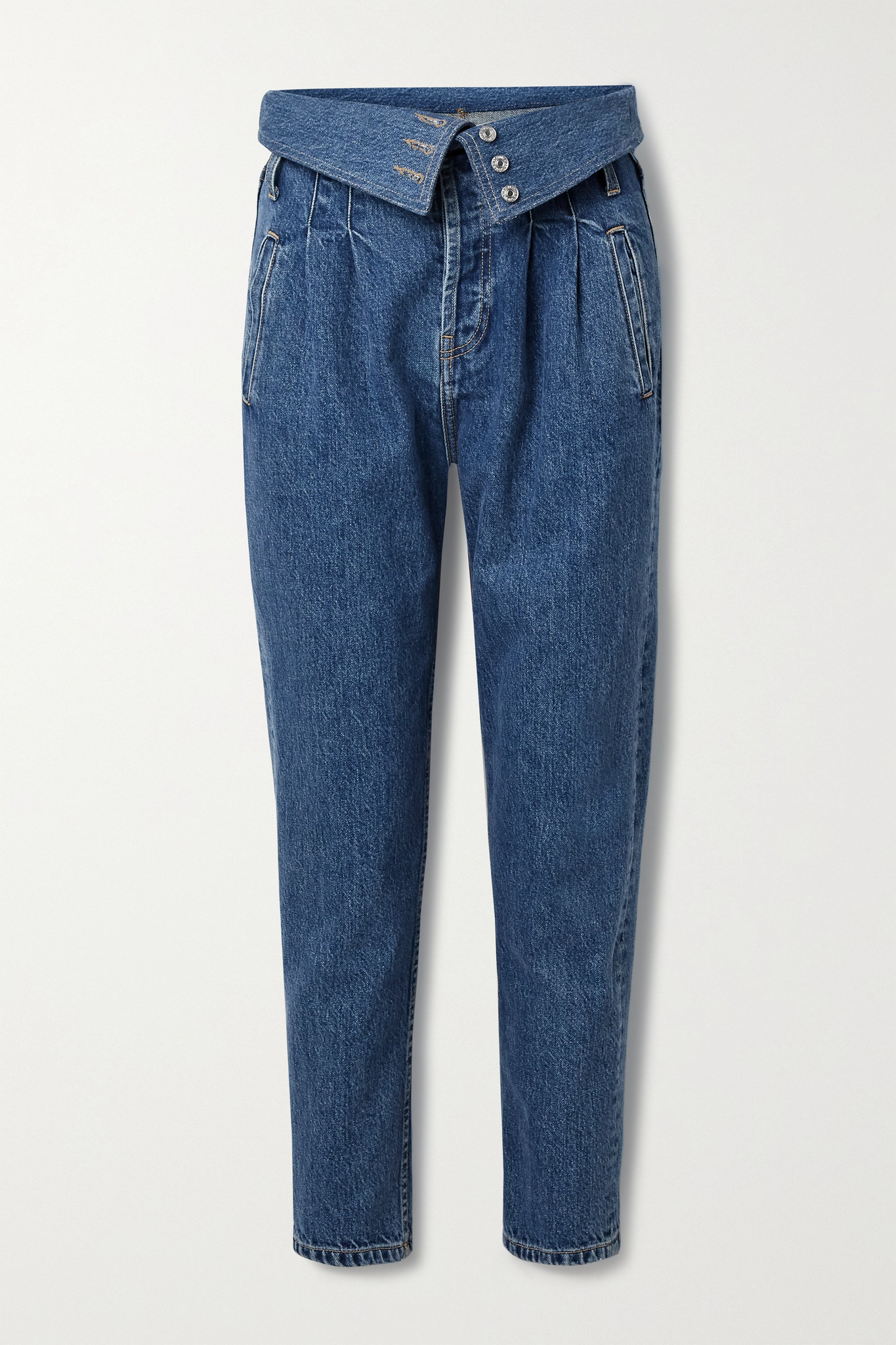 RE/DONE - 80s Fold-over High-rise Tapered Jeans - Blue - 29