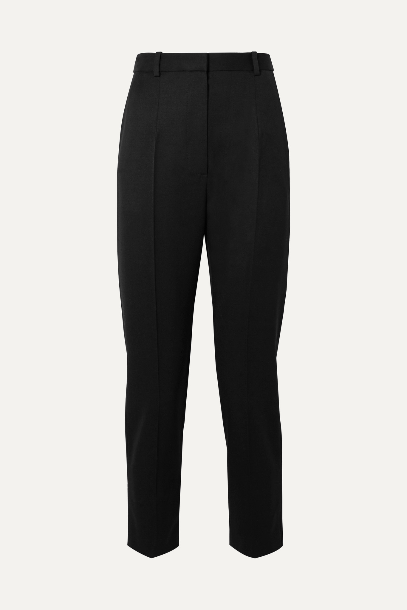 ALEXANDER MCQUEEN - Wool Straight-leg Pants - Black - IT46