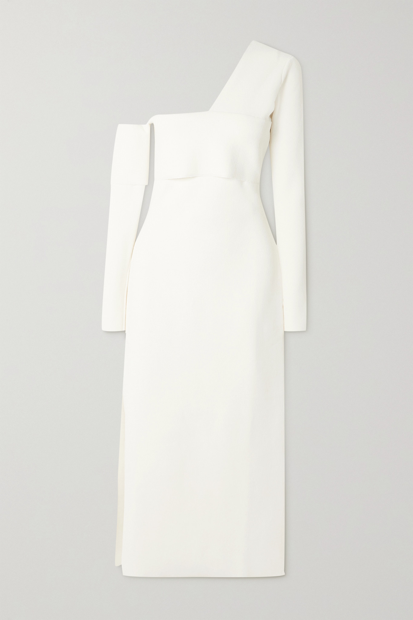 PROENZA SCHOULER - One-shoulder Cutout Knitted Maxi Dress - Off-white - small