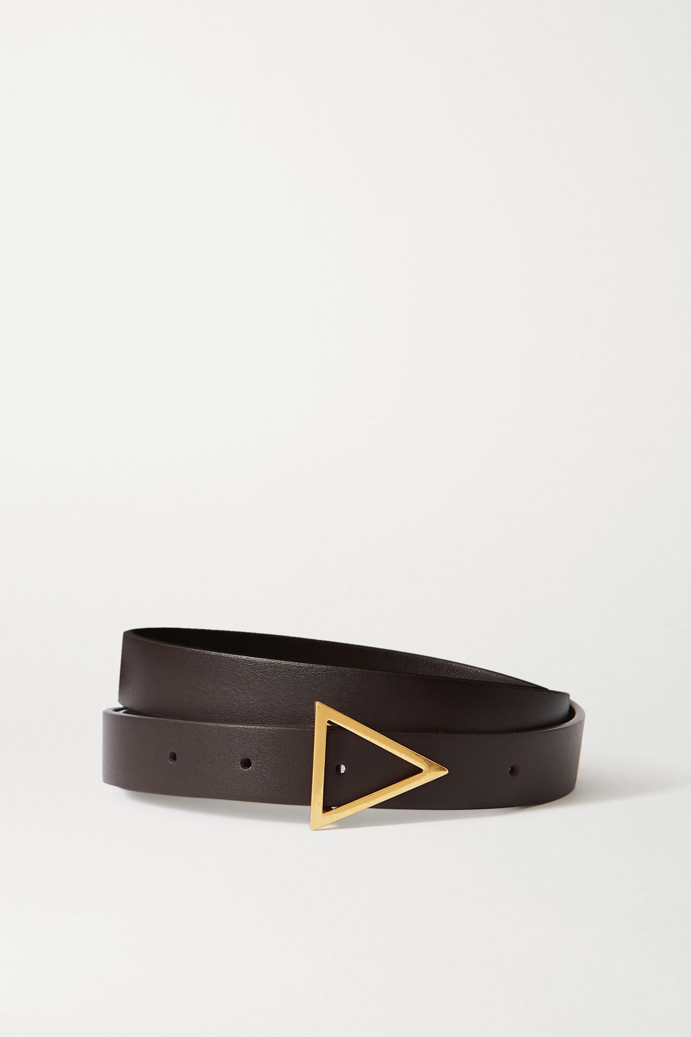 BOTTEGA VENETA - Leather Belt - Brown - 65