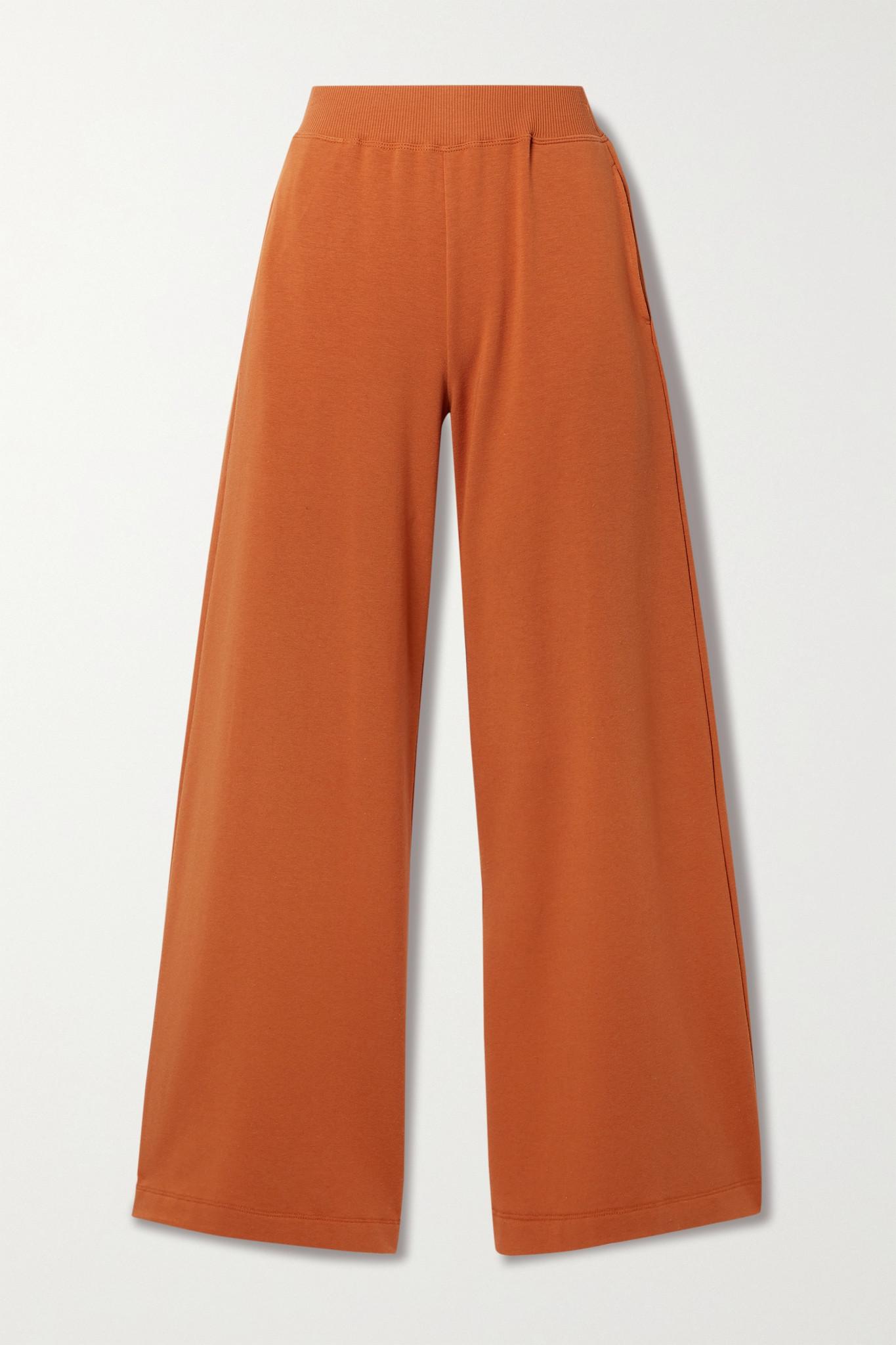 L'AGENCE - Campbell 弹力棉质莫代尔混纺阔腿裤 - 橙色 - medium