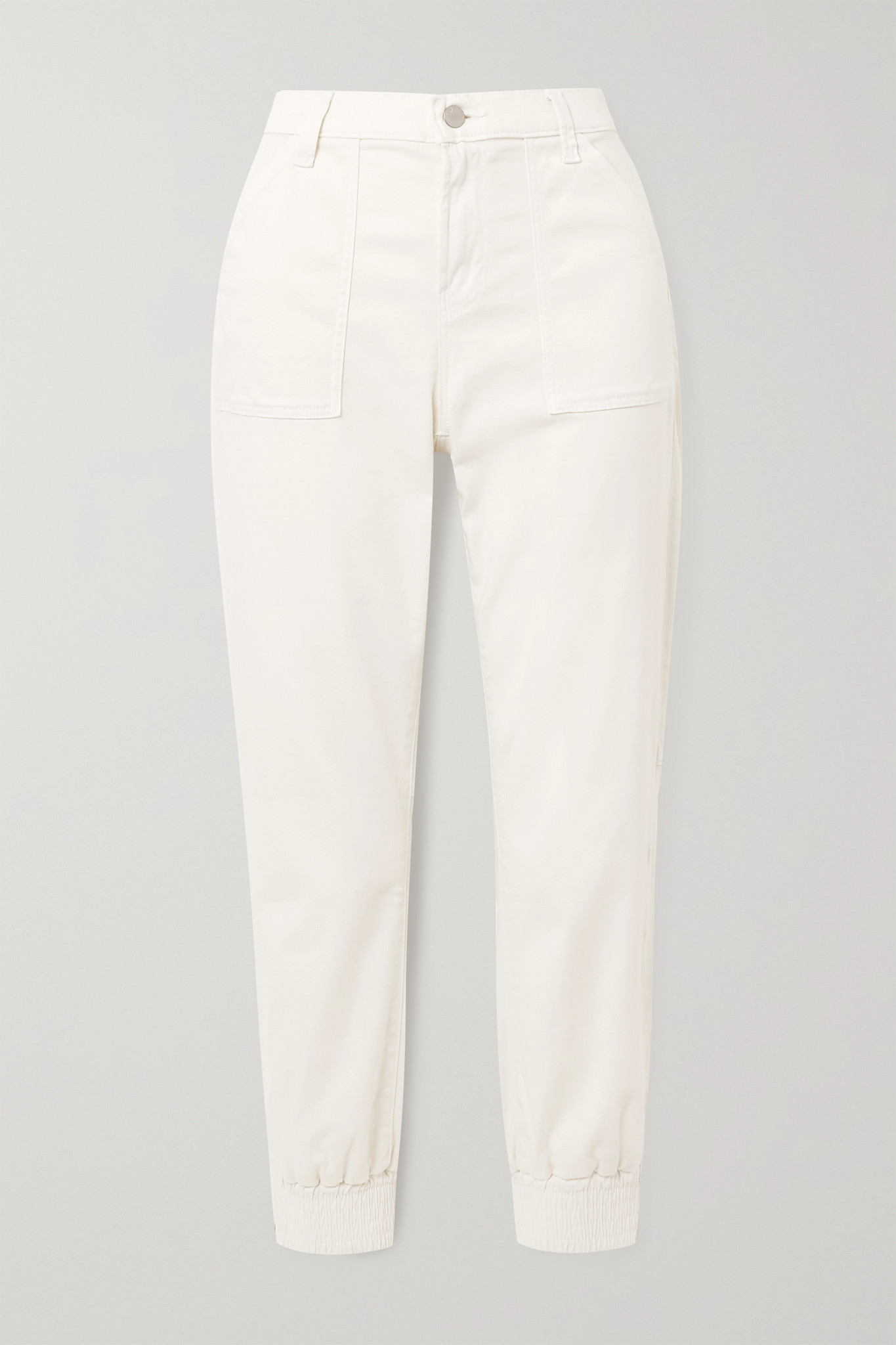 J BRAND - Arkin Cotton-blend Sateen Track Pants - White - 23