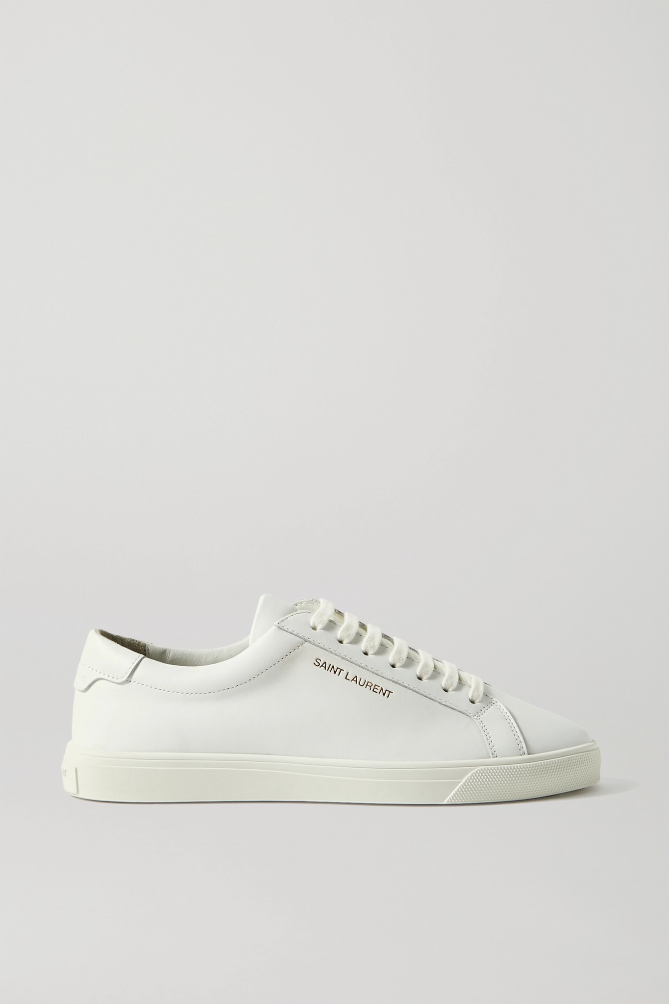 SAINT LAURENT - Andy Logo-print Leather Sneakers - White - IT36.5
