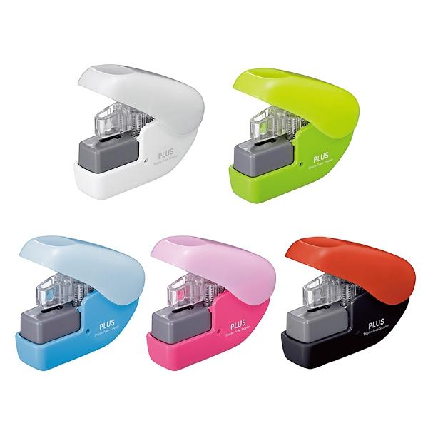 【Plus普樂士】4枚無針訂書機 釘書機(顏色隨機出貨)SL-104NB /台