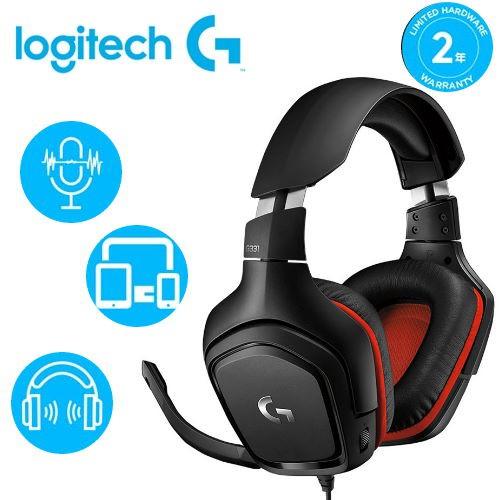 【Logitech 羅技】G331 立體聲電競耳機麥克風