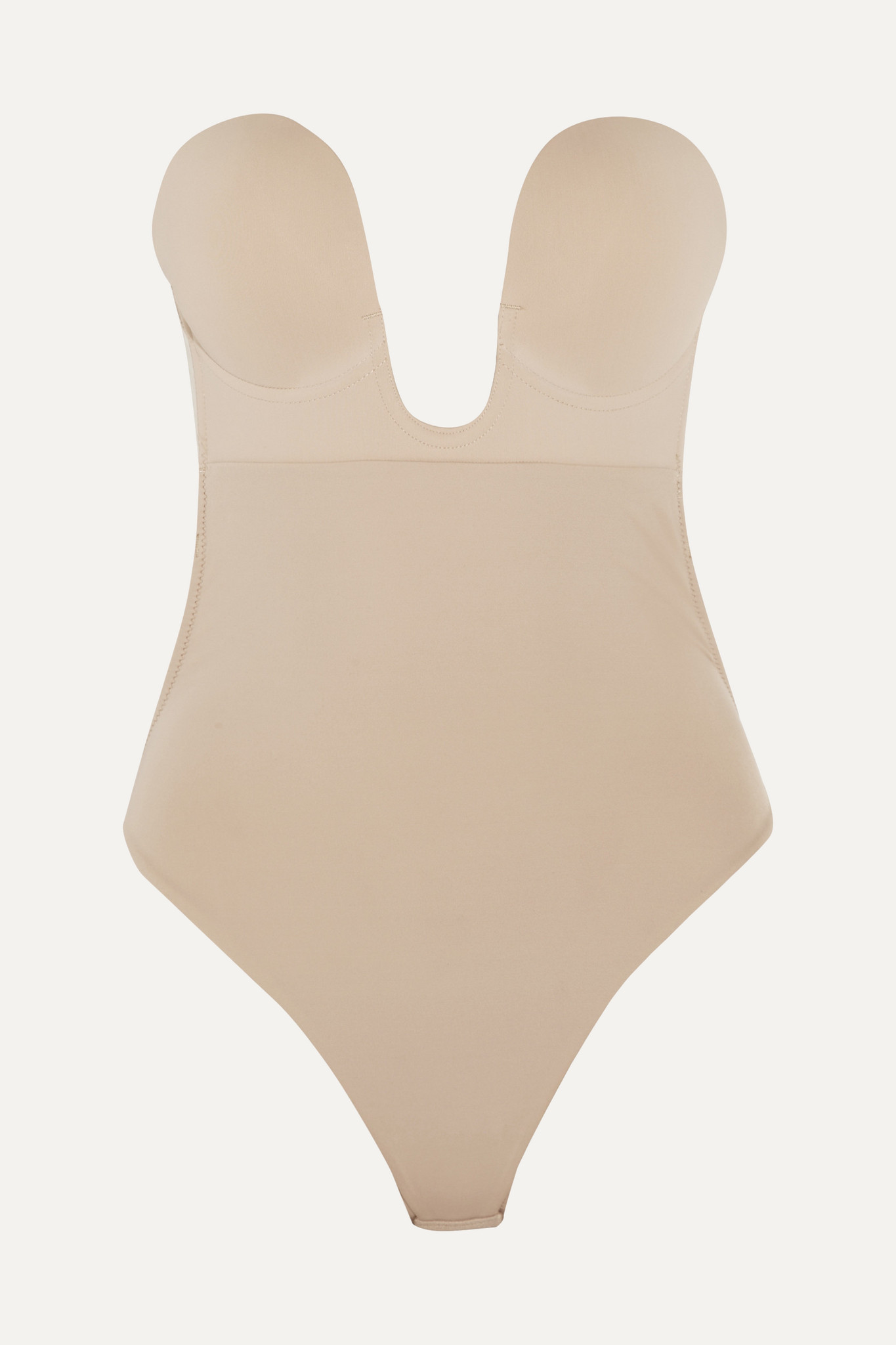 FASHION FORMS - U-plunge Self-adhesive Backless Thong Bodysuit - Neutrals - large