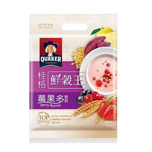桂格莓果多鮮穀王30Gx10 超值二入組【愛買】