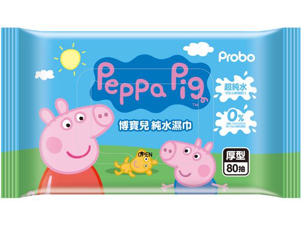 快潔適~博寶兒純水濕巾(厚型80抽) 佩佩豬【D946642】