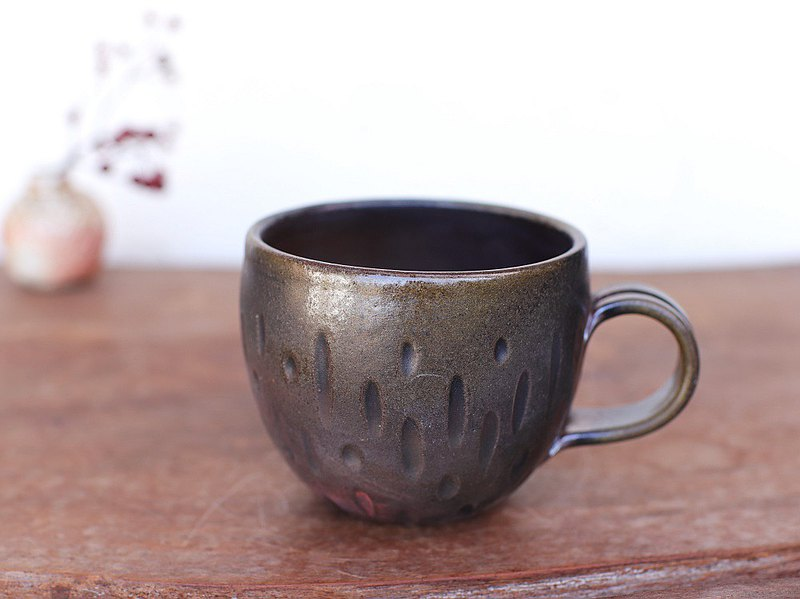 Bizen ware咖啡杯(圓形)C4-065