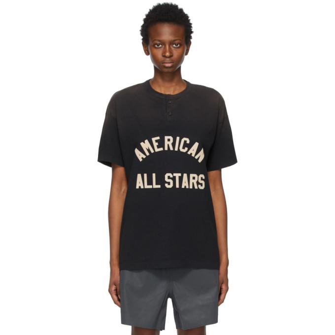 "Fear of God 黑色""All Stars"" Henley T 恤"