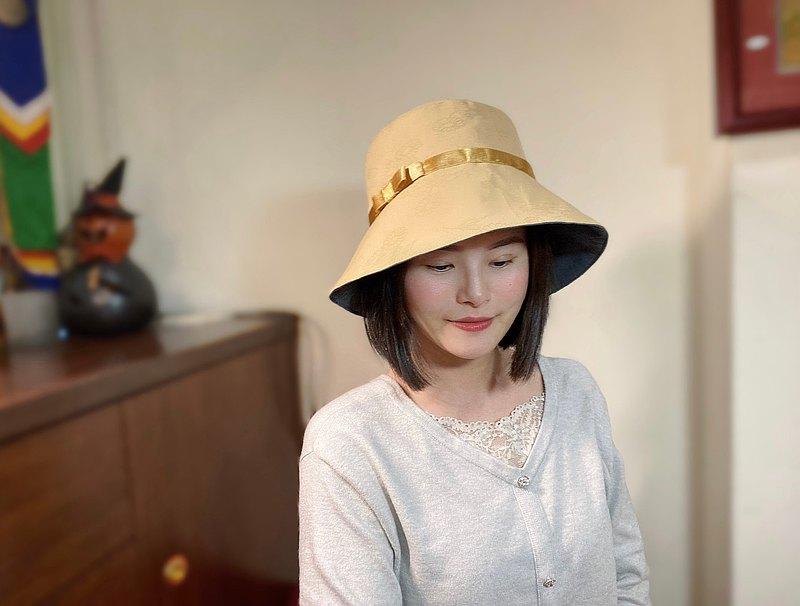 緹花漁夫帽/駝色