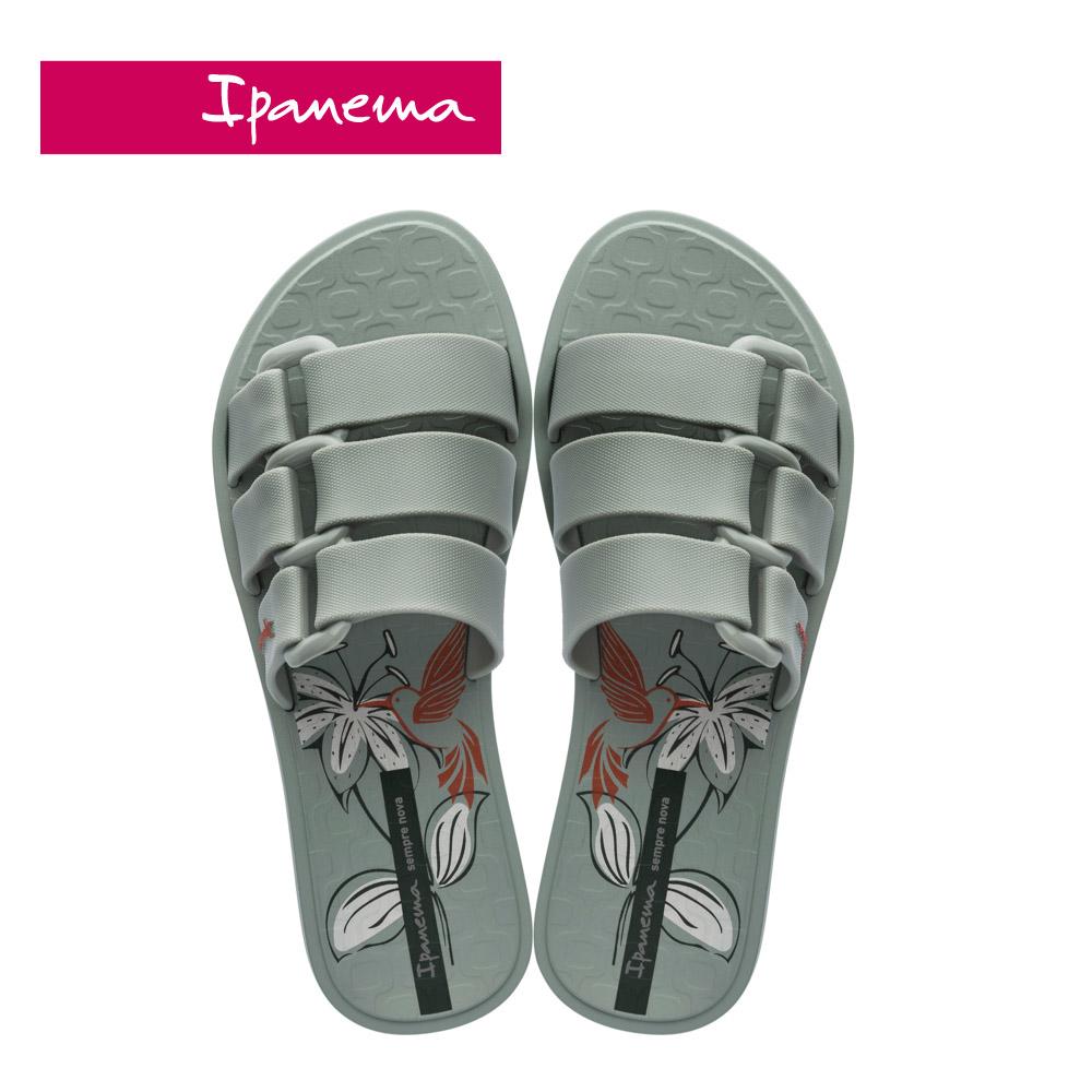 Ipanema [Women] BOLD PRINT造型印花一字拖-灰綠(2652121605)