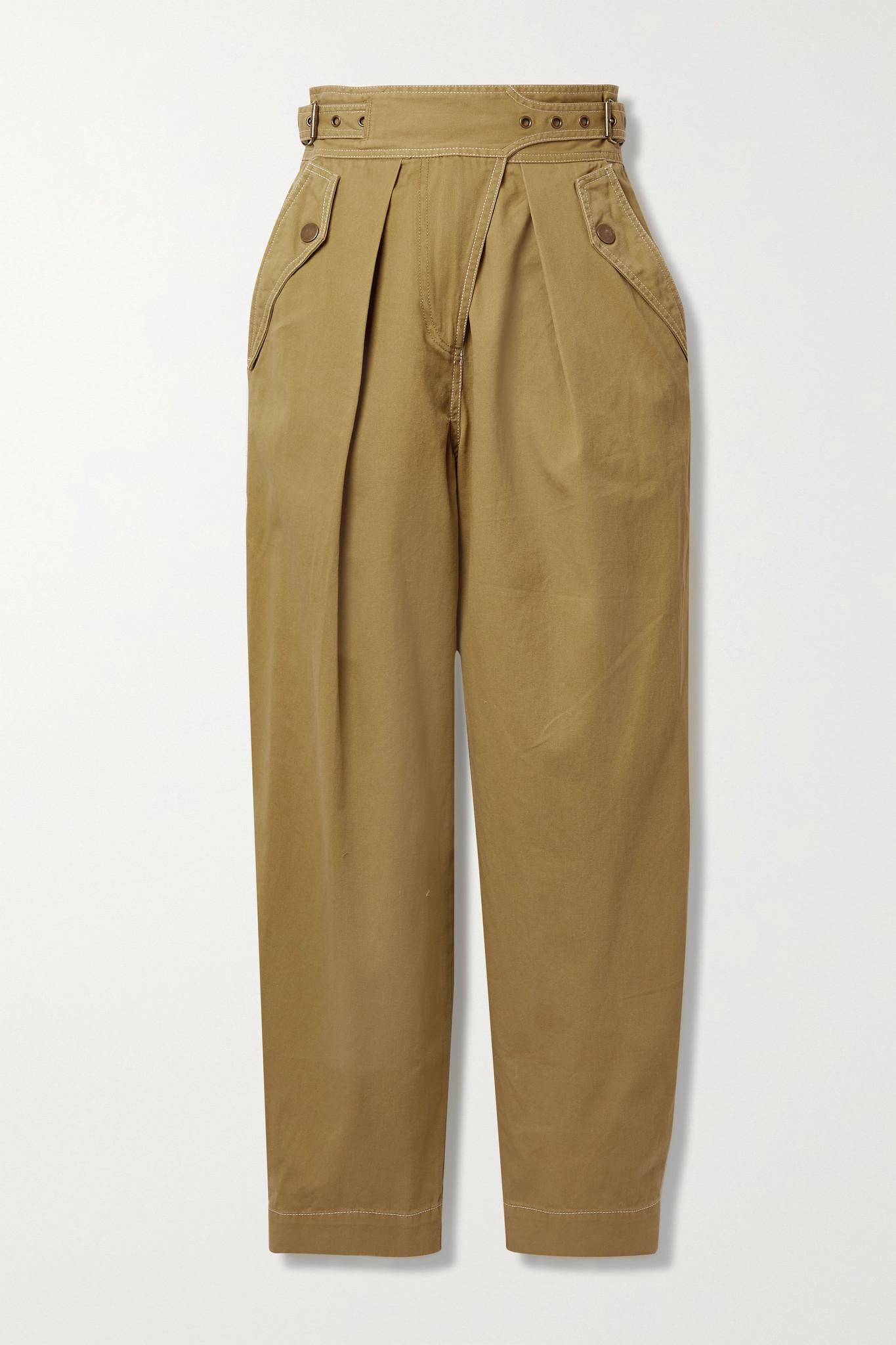 ULLA JOHNSON - Dune 纯棉斜纹布锥形裤 - 中性色 - US8