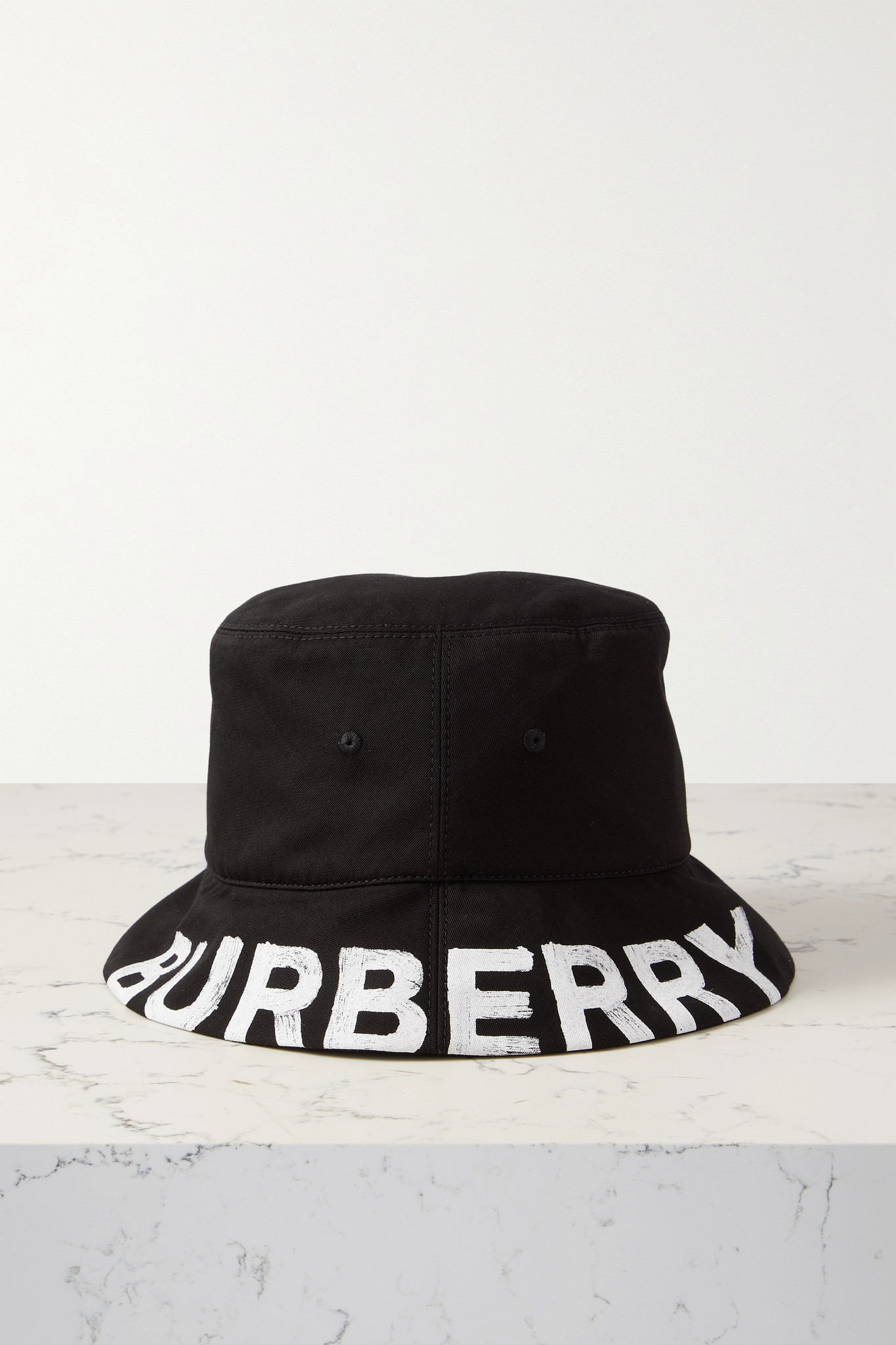 BURBERRY - Reversible Printed Checked Cotton-twill Bucket Hat - Black - M